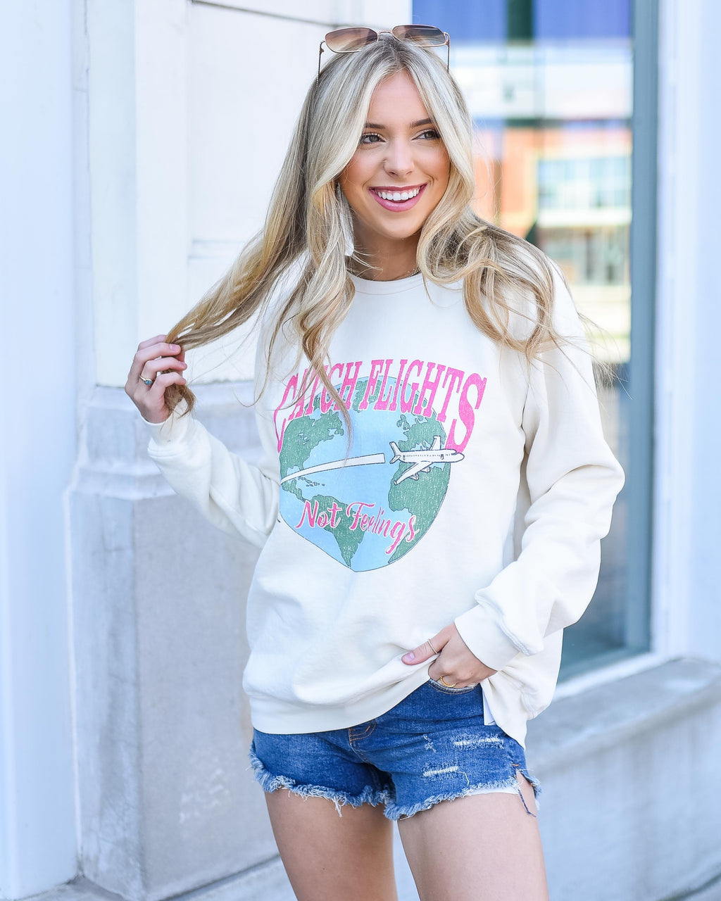 Mumu Catch Flights Pullover