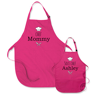 Chef Mommy / Sous Chef (Custom Kid's Name)