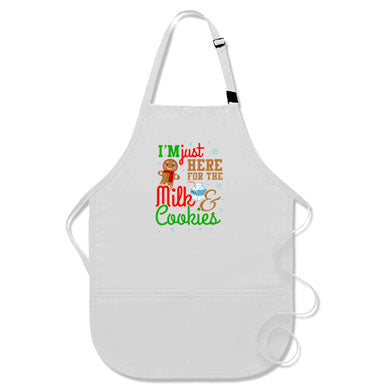 I'm Just Here For The Milk & Cookies Kids Apron - APR-12