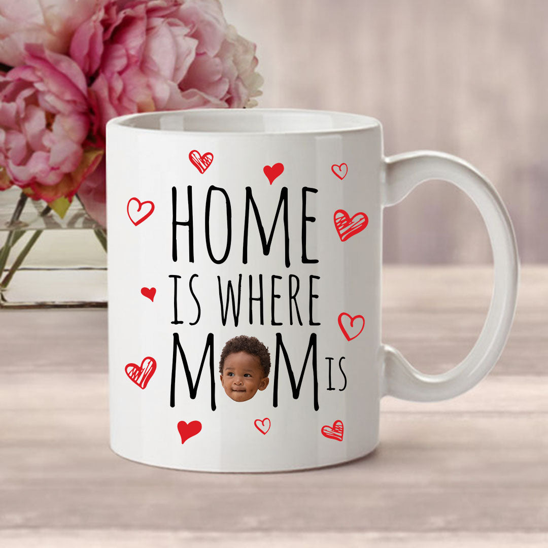Home Is Where Mom Is Baby Face Mug - BF-25