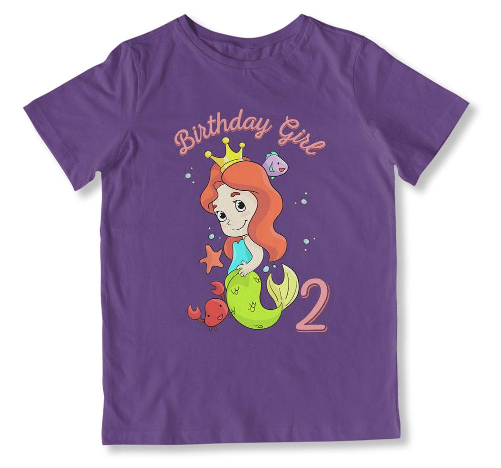 Birthday Girl Is 2 T-Shirt - BTH-103
