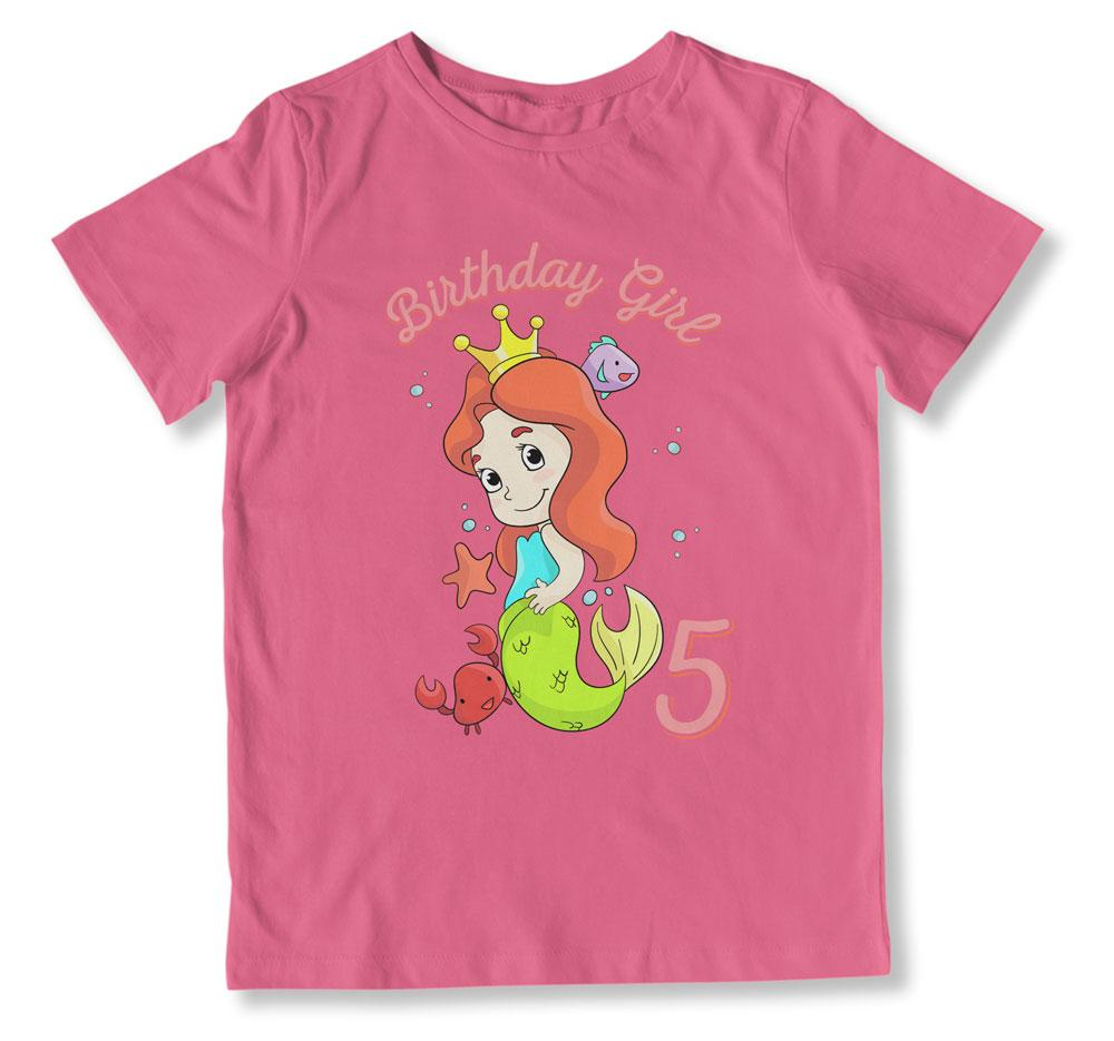 Birthday Girl is 5 T-Shirt - BTH-106