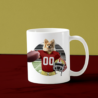 Custom Dog Face Mug (San Francisco) - CD-02