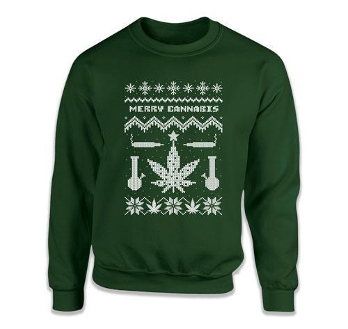 Merry Cannabis Ugly Christmas Sweater