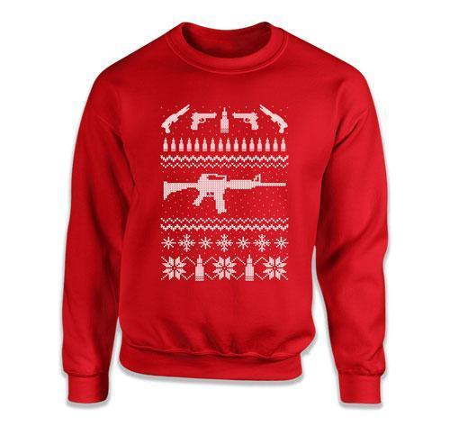 CREWNECK SWEATER - Rifle Ugly Christmas Sweater - DN-240