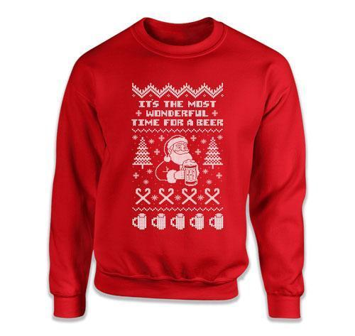 It's The Most Wonderful Time For A Beer Ugly Christmas Sweater