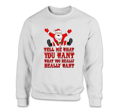CREWNECK SWEATER - Tell Me What You Want - DN-319