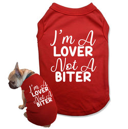 I'm A Lover Not A Biter Dog Tank Top - DOG-09