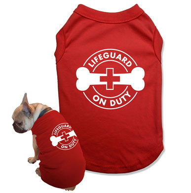 Lifeguard On Duty Dog Tank Top - DOG-10