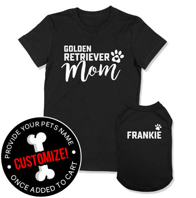 Golden Retriever Mom / (Custom Dog Name)