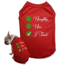 Naughty Nice I Tried Dog Tank Top - DOG-13