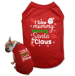 I Saw Mommy Kissing Santa Claus Dog Tank Top - DOG-16