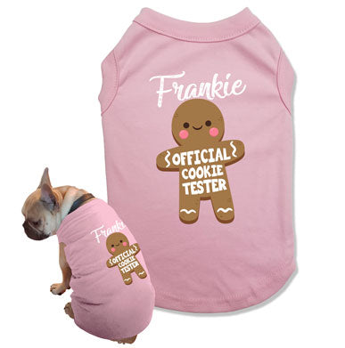 (Custom Dog Name) Official Cookie Tester Dog Tank Top - DOG-19