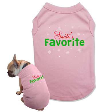 Santa's Favorite Dog Tank Top - DOG-30