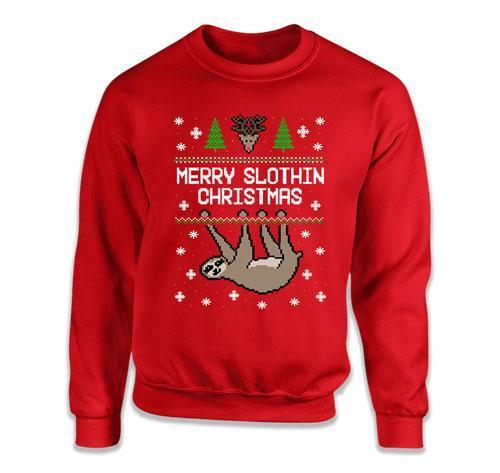 Merry Slothin' Christmas Ugly Christmas Sweater