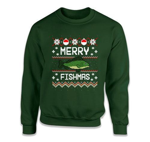 CREWNECK SWEATER - Merry Fishmas - FAT-569