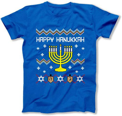 Ugly Happy Hanukkah Menorah - FAT-587