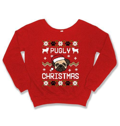 SLOUCHY SWEATER - Pugly Christmas - FAT-598