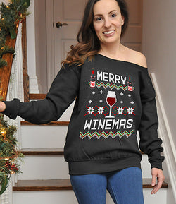 Merry Winemas Ugly Sweater - FAT-603
