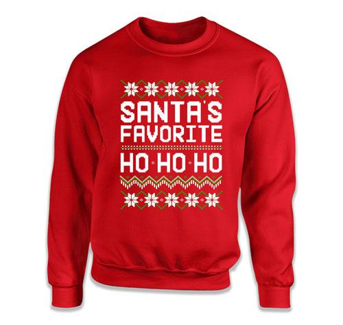 Santa's Favorite Ho Ho Ho Ugly Christmas Sweater