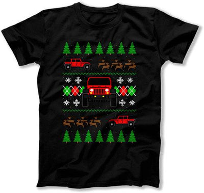 4 Door Jeep Ugly Christmas Sweater - FAT-611