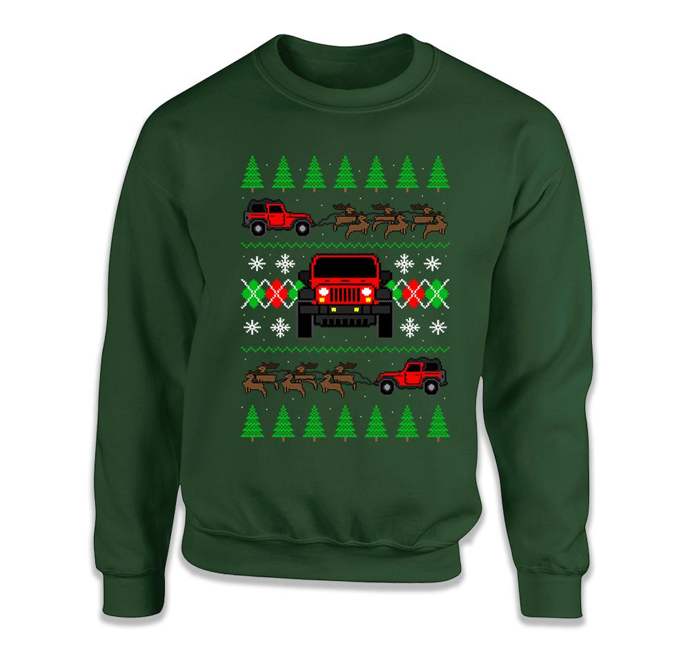 2 Door Jeep Ugly Christmas Sweater - FAT-612
