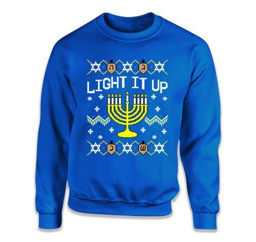 Light It Up Ugly Hanukkah Sweater