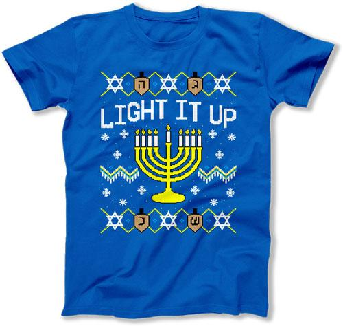 Light It Up Ugly Hanukkah Sweater - FAT-616