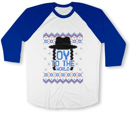 Oy To The World Ugly Hanukkah Sweater - FAT-617