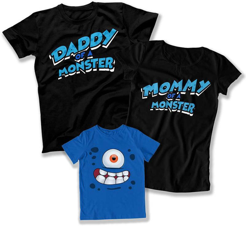 Daddy of a Monster / Mommy of a Monster / Monster