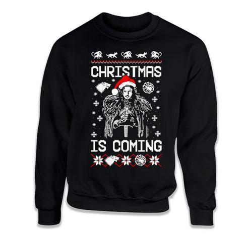CREWNECK SWEATER - Christmas Is Coming - FAT-851