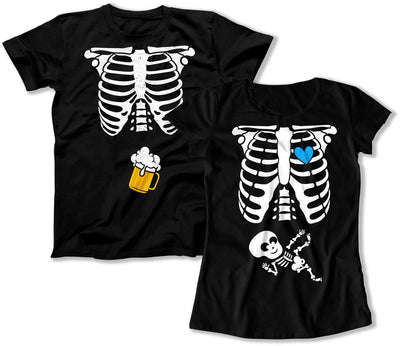Beer / Blue Heart Baby Boy Skeleton