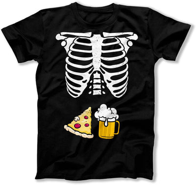 Beer and Pizza / Blue Heart Baby Boy Skeleton