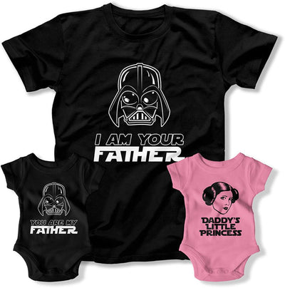 Dad And 2 Kids Shirts