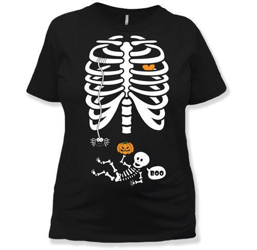 MATERNITY - Scary Baby Skeleton Ribcage - MAT-20