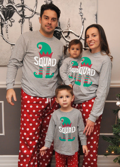 Matching Christmas Pajamas For The Whole Family Of Elves
