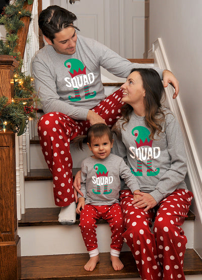 Elf Squad Christmas Pajamas Set