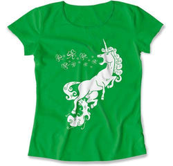 LADIES - Unicorn Burping Clovers - MD-390
