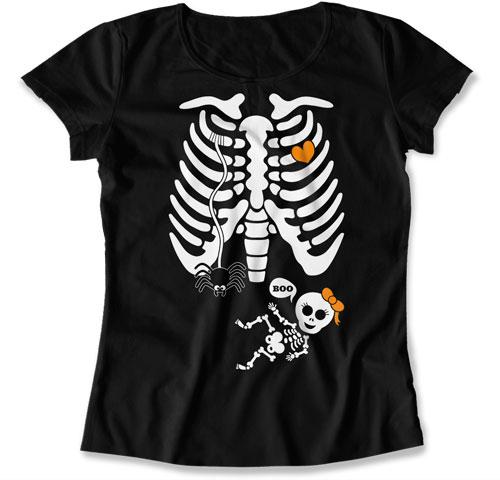 Baby Girl Skeleton Ribcage with Big Eyes
