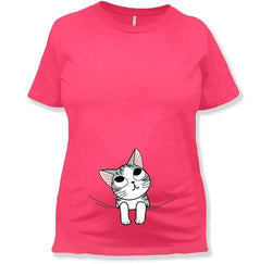 Peeking Kitty Pregnancy T-Shirt - MD-707