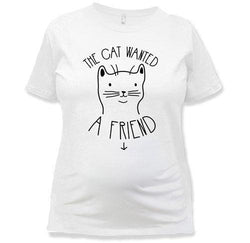 The Cat Wanted A Friend T-Shirt - MD-716