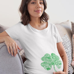 Four Leaf Clover Baby Bump T-Shirt - MD-757A