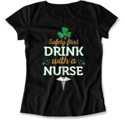 LADIES - Safety First Drink With A Nurse with Clover - MD-777
