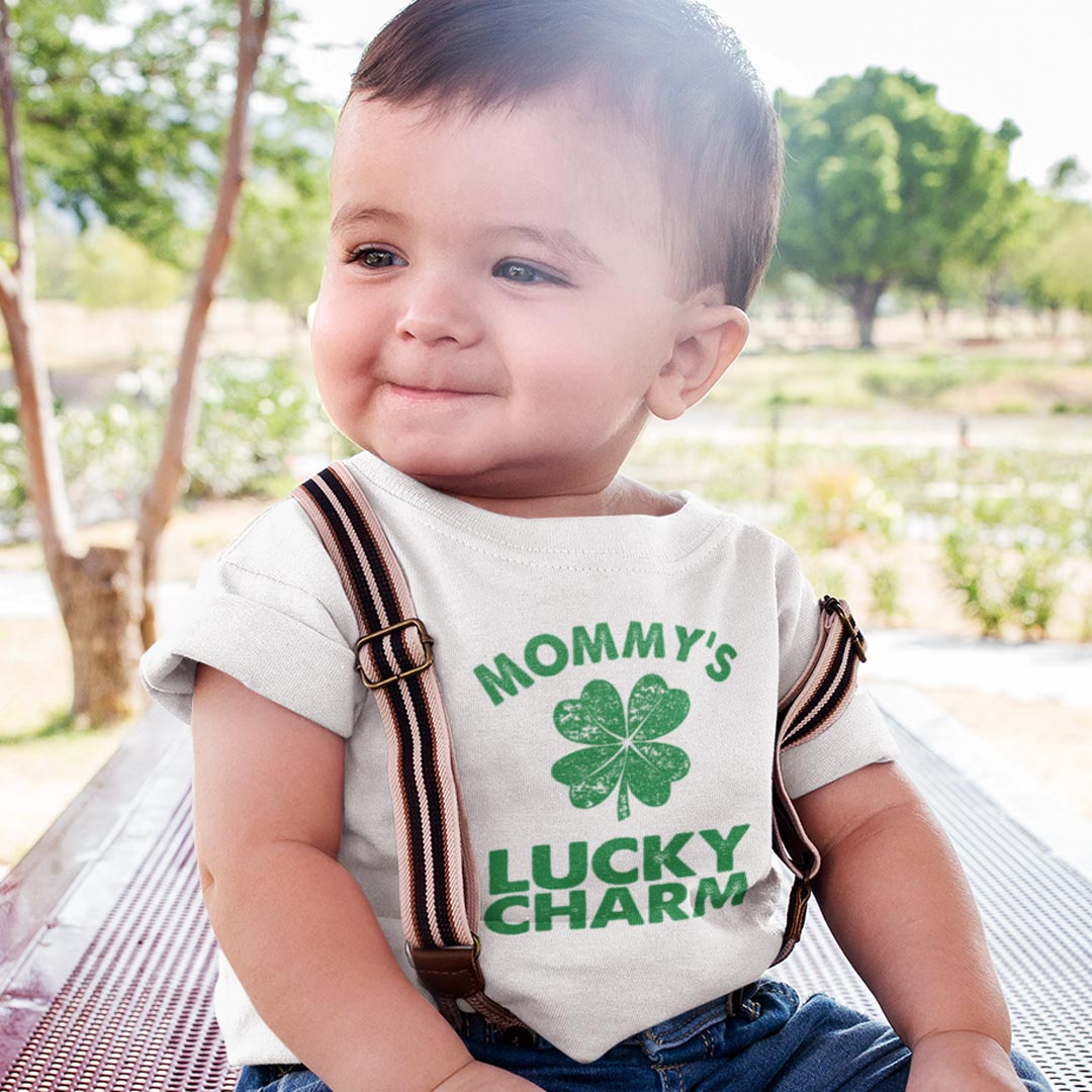 Mommy's Lucky Charm Baby T-Shirt