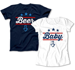 Beer / Baby - 4th of July TShirts