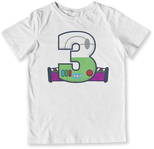TODDLER TEE - 3 Year Old Buzz Lightyear - TEP-1484
