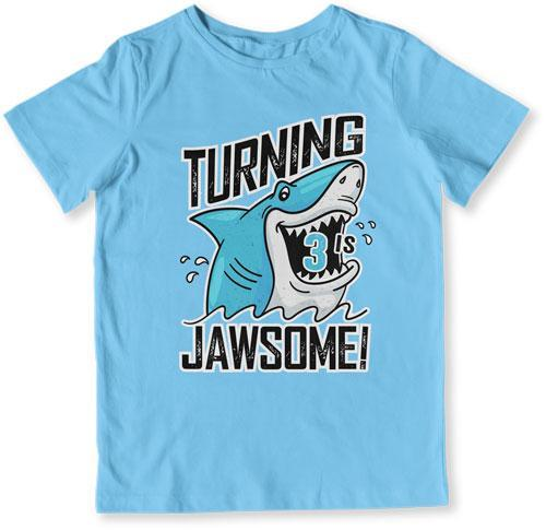 TODDLER TEE - Turning 3 Is Jawsome - TEP-1496