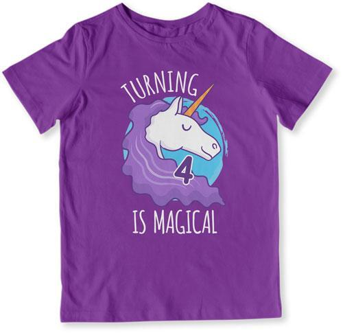 TODDLER TEE - Turning 4 Is Magical - TEP-1501