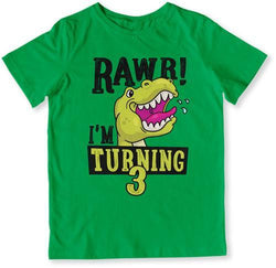 Rawr I'm Turning 3 T-Shirt - TEP-1504
