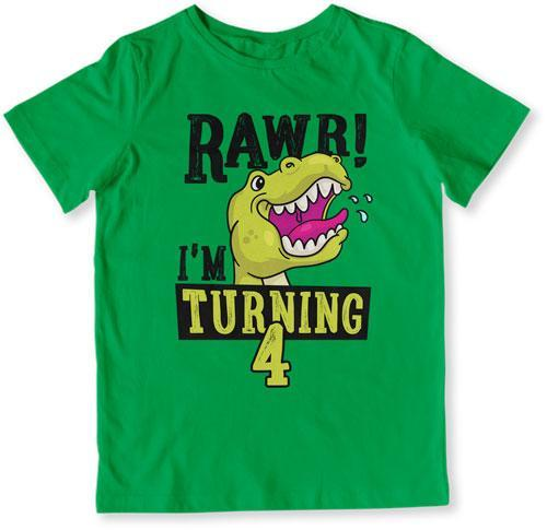 TODDLER TEE - Rawr I'm Turning 4 - TEP-1505